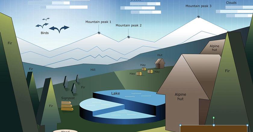 Hotel suizo desarrolló campaña con gráficos de Power Point