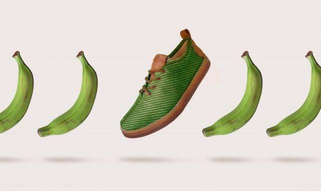 Ponen a la venta zapatos biodegradable elaborado con fibra de plátano