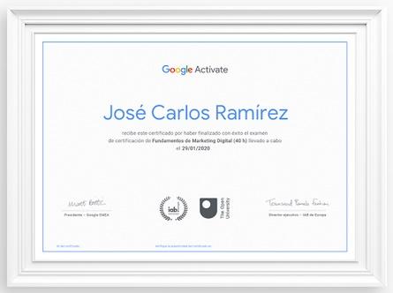 certificado google activate