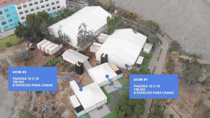 Productora de eventos empieza a armar hospitales temporales en Perú