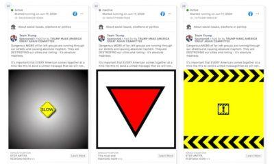 Facebook elimina anuncios de la campaña de Donald Trump