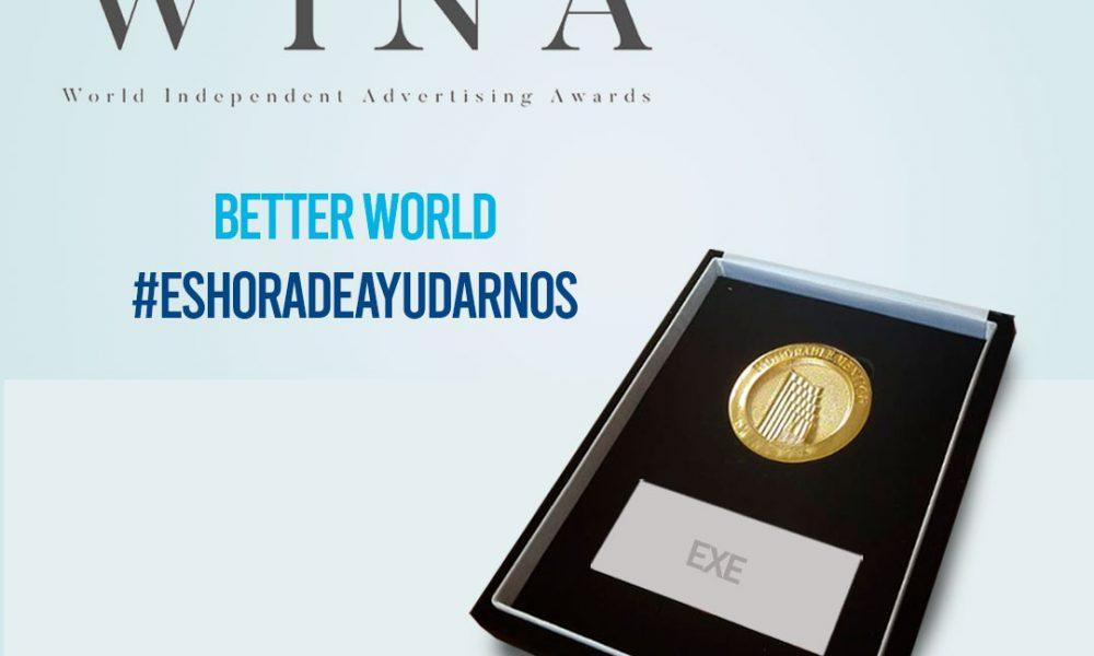 Campaña #EsHoraDeAyudarnos de EXE es premiada en los WINA 2020
