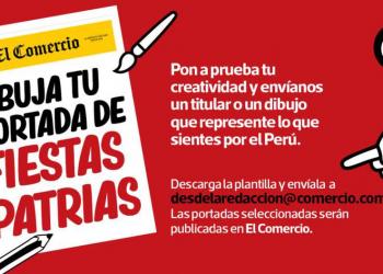 El Comercio invita a lectores a crear su portada para este 28 de julio