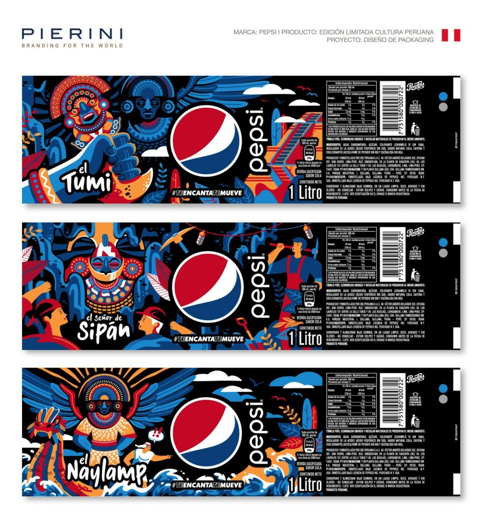 Pepsi estrena nuevo packaging que rinde homenaje a la cultura peruana