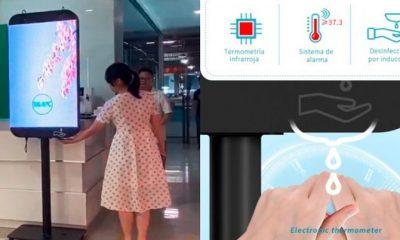 TOTEM LED-Medical, la tecnología que mide la temperatura y provee gel antibacterial