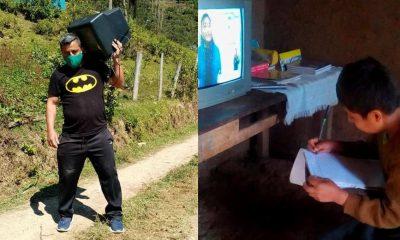 Maestro peruano realiza campaña para garantizar la educación de los niños del Amazonas