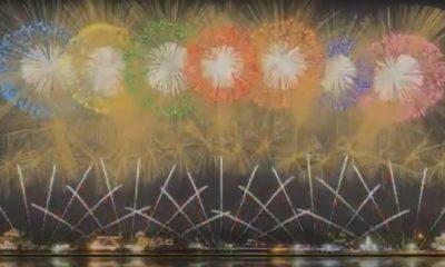 Tokio utiliza los fuegos artificiales de los Juegos Olímpicos y presenta increíble acto