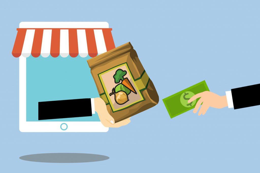 Ilustración referencial al comercio en línea