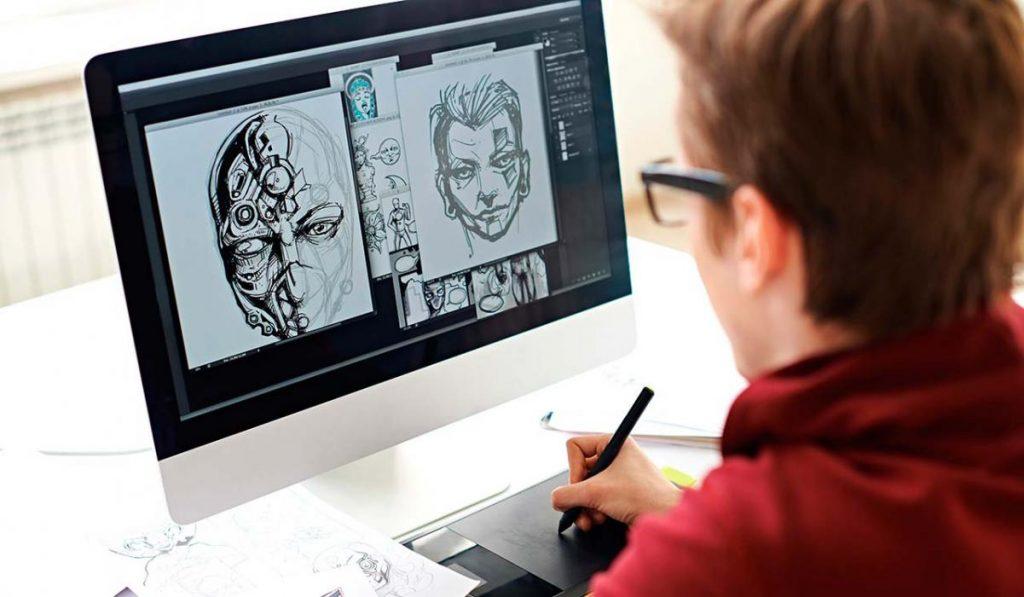 Ilustrando en tabla digital