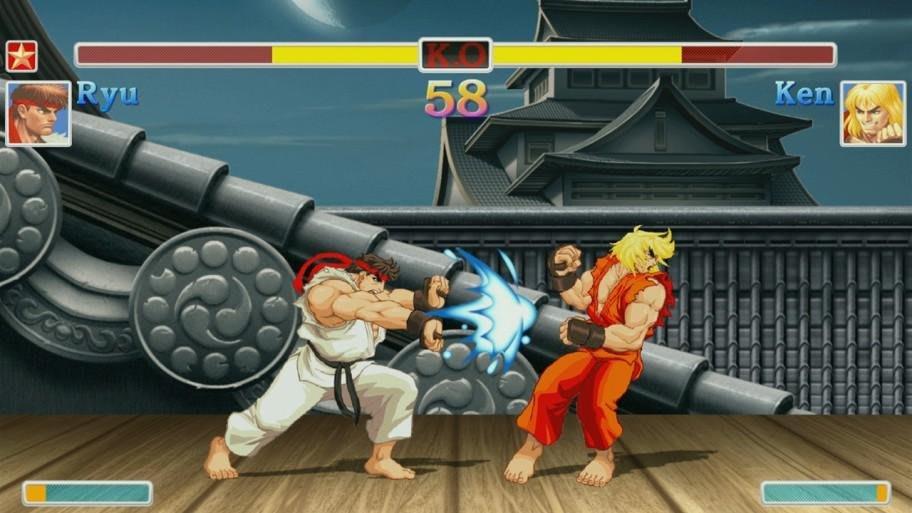 Ryu y Ken en combate en la versión clásica de Street Fighter