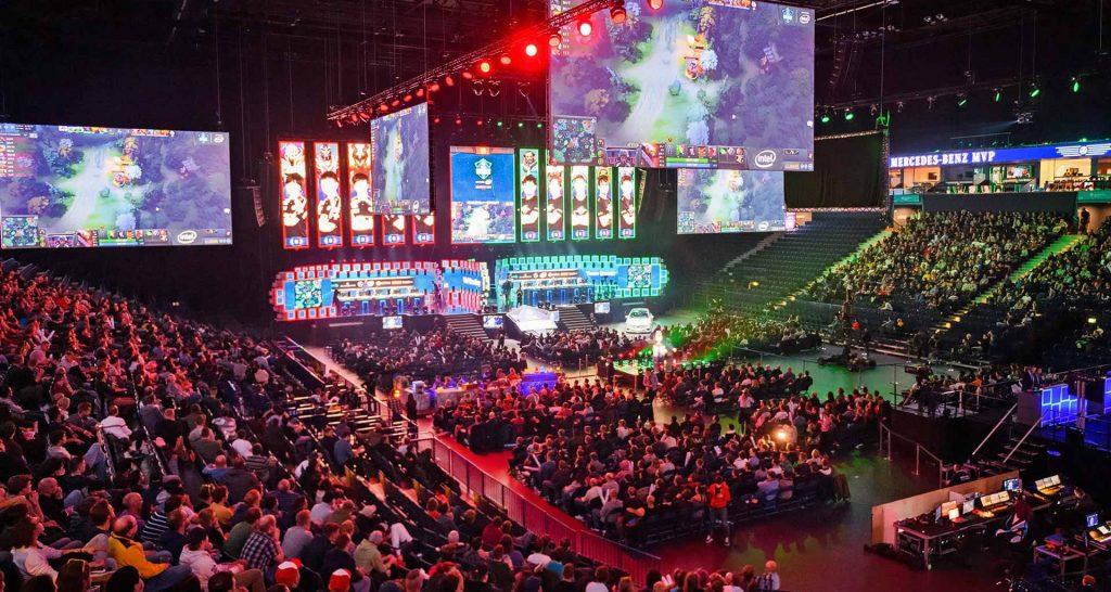 estadio diseñado para celebrar los deportes electrónicos esports