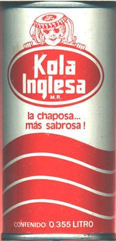 Slogan publicitarios de Kola Inglesa