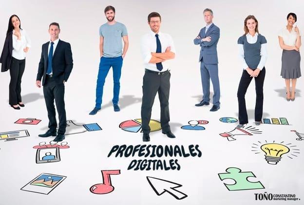 personas con perfil de profesionales digitales