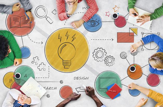 Light Bulb Ideas Creative Diagram Concept