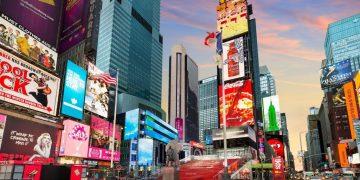 Fotografía de Times Square, en Nueva York.