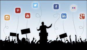 Ilustración sobre marketing político digital.