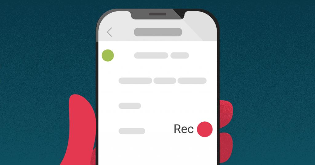 Ilustración sobre grabar la pantalla del celular.