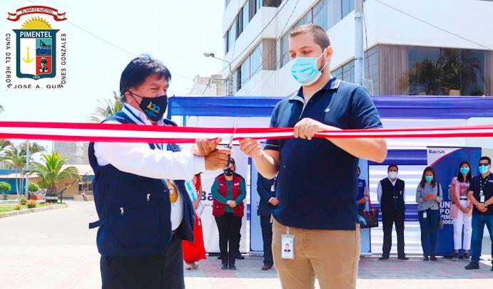 Inauguran el malecón bioseguro en Pimentel