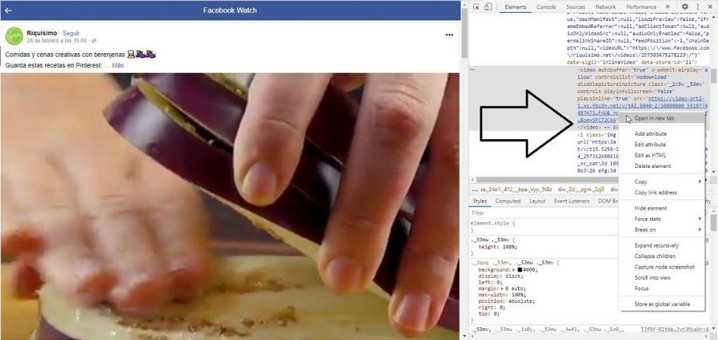 Pantalla número 5 de tutorial para descargar videos de Facebook.