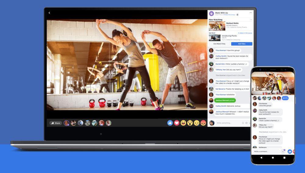 Ilustración sobre descargar videos de Facebook