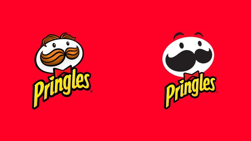 Logotipo antiguo y logotipo actual de Pringles