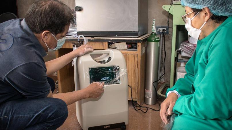 Concentrador de oxígeno en Perú