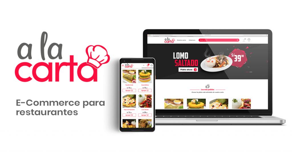 """A la Carta"" plataforma para restaurantes"