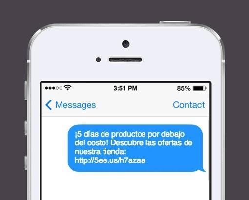 pantalla smartphone sms marketing