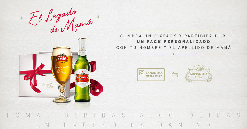 Stella Artois crea una edición especial personalizada para homenajear a mamá en su día