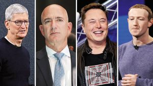 Cook,Musk,Bezos,Zuckerberg