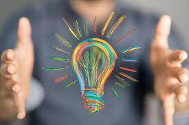 dibujo de bombillo en colores sobre tips para emprender