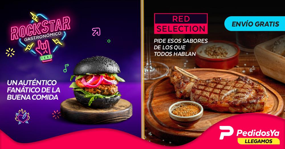 Red Selection y Rock Star, las nuevas campañas de PedidosYa para los amantes de la buena comida