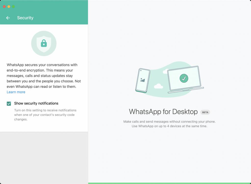 WhatsApp en cuatro dispostivos
