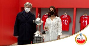 Amstel regresó el trofeo de la Conmebol Libertadores al Perú